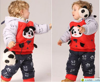 Wholesale Cheap unisex Baby Kids Clothing thickening suit cotton padded jacket Fast shipping