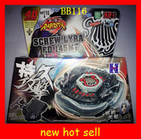 Wholesale new hot Beyblade D metal fusion Steel fighting spirit beyblades BB113 BB114 BB117 kids toys