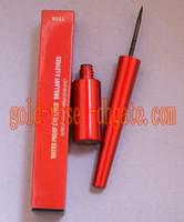 Roja caliente, impermeable delineador de ojos liquide Negro 10ML (100 unidades/lote)+REGALO