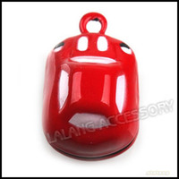 Wholesale 13 mm Red Car Metal Charms Christmas Jingle Bell Copper Party Ornament Accessory