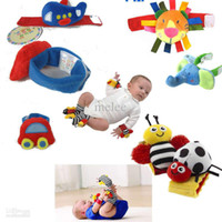 Wholesale New Lamaze Cart Garden Bug elephant Wrist Rattle foot Finder High Contrast Foot Finders baby toys