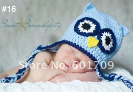 Wholesale OWL beanie handmade OWL cap children OWL hat Bearded cap Hot sale kids manual cap crochet