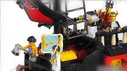 B0129 3D Jigsaw Puzzle,Cool Pirate Ship Block Set Toy,Black Pearl,Brick Toy 1pcs