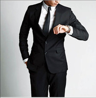 Wholesale Men s business suit suits western style clothing Black two button style sdfsd