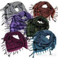 Wholesale Lady s Men s Checkered Arab Shemagh Grid Neck Scarf Wrap Fashion Chrismas gift