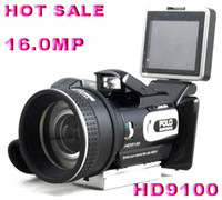 Wholesale Brand new X ZOOM HD9100 digital camera MP with Remote control telephoto lens Wide angle lens