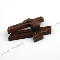 Charms wooden crosses - Wooden Cross Pendants x23x3MM Fit Necklaces Bracelets Jewelry Findings