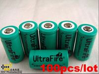 Wholesale Free EMS UltraFire CR123A Battery mAh V quot Green quot for Digital Camera