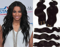 Wholesale Virgin Indian Hair Weft quot quot Remy Human Extensions Mix SizeHair Weave Natural Color Dyeable