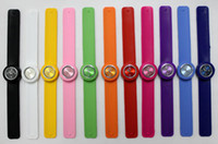 Wholesale 50pcs Snap Slap Watch Silicone Candy Jelly Sports Fashion Watches for Children and Kids