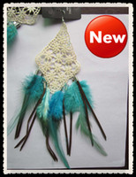 Wholesale 12pcs NEW Feather earrings with lace CM bohemia drip styles chain earrings jewelry