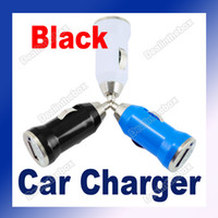 Wholesale Christmas Mini Design USB Universal Car Charger Adapter For MP3 PDA V V Input Black
