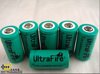 Wholesale Free EMS DHL UltraFire ICR123A Rechargeable Battery mAh V Green for Digital Camera