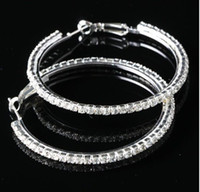 Wholesale 2013 Promotion Wedding Bride mm Silver Paparazzi Basketball Wives Crystal Rhinestone Hoop Earrings
