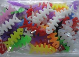 Poissons de silicone pour la pêche à vendre-HOT !!! Silicone Fish Bone écouteurs cordon enrouleur de câble de couleurs mélangées ; 50pcs / lot