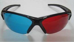 Wholesale Red magenta Blue Anaglyph D GLASSES Semi framed glasses Spherical lens for movie game