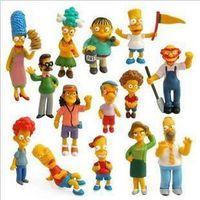 Wholesale set Anime The Simpsons Action FIgures Homer Simpson Doll Birthday Christmas Gift