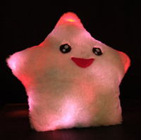 Adults led pillow - Lucky Star shine hold pillow Colorful LED Pillow Plush toys Christmas gift New Year gift kg