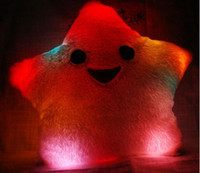 Adults led pillow - Lucky Star shine hold pillow Colorful LED Pillow Plush toys Christmas gift
