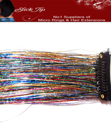Wholesale 14 quot Glitz Sparkling Feather Tinsel clip in on Hair Extensions D Shiny