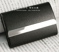 Wholesale Leather Metal Business Name Credit ID Card Case Holder