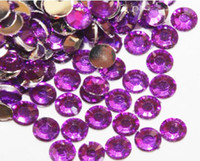 Nail Art Rhinestones flat back gems - Acrylic Rhinestones mm PURPLE Flat Back Gems crystal beads
