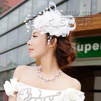 angels head pin - Fashion Bridal Headdress flower Feather angel head flower Party headdress flower