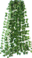 Wholesale 60stem Artificial Ivy Silk Plants Maple Trailing house tree and plants for gardening