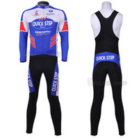 bicycle step - Highly Quality quick step Winter Thermal Fleeced Cycling Jerseys Mountain Bike Cycling Clothing Bicycle Cycle Clothesensemble hiver cyclisme
