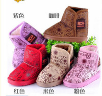 Wholesale HOT Baby Boots Infant Snow Boots Kid Antiskid Soft Sole Shoes Children Winter Boots Shoes colors