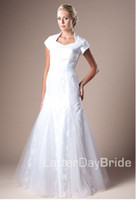 Wholesale 2012 Mermaid Trumpet Asymmetrical Beaded Applique Bodice Skirt Satin Wedding Gown Dress Sheffield