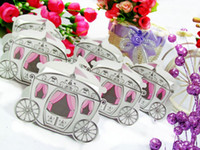Wholesale Carriage Wedding Candy Boxes candy box Wedding Gifts wedding favors favor holders candy boxes XS D