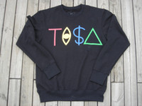 Men Cotton Round New Year Hotest Selling Mens sweater black shirts Tisa black TI$A long sleeve Tshirts