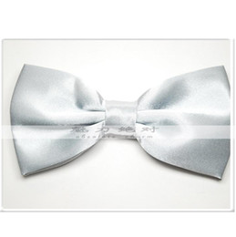 silver bowties rayon bowties tie knots men's ties bow tie necktie men bows business tie
