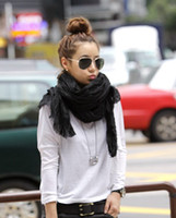 Wholesale drape scarf Lady bandelet muffler shawls silk linen cotton material Autumn winter low price