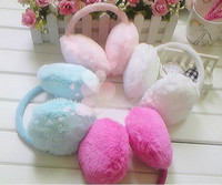 Wholesale ear warmer lovely girls fur earmuff winter ear warmer mix color