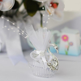 Wholesale Swan Wedding Candy Boxes Elegant wedding candy boxes Favor holders Wedding Gifts candy bags LUS X
