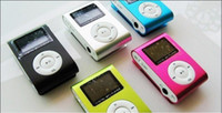 Wholesale Mini Clip MP3 Player with LED Screen FM Radio MP3 with card slot mp3 earphone usb