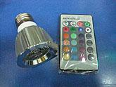 Wholesale top W E27 RGB Remote Control LED Bulb Light LED SPOTLIGHT COLOR changing