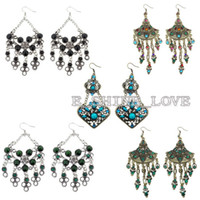 Wholesale 5PairsXVintage Tibetan Silver Bronze amp Resin Fashion Earrings er zmix10