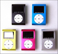 Wholesale Mini Clip MP3 Player with LED Screen MP3 support TF Card mp3 earphone USB cable hot sell