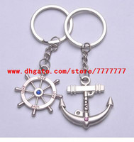 Wholesale 216pcs Stainless Lover Key Chains Rudder amp Anchor Couple Key Chain Key Chain Lovers Keychain