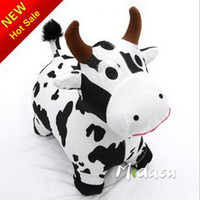 Wholesale Plush animal jumper Cow Jumping animal ride on animal inflatable bouncers Kid s game best price