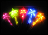 Star live points - 100pcs GOOD dealing Live large sticks Flash stick light stick five pointed star rod bar shake stick