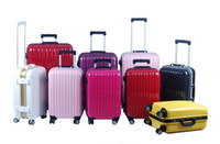 Wholesale Aluminum frame aircraft wheel travel box ABS luggage mix color order