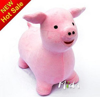 Wholesale Plush jumping animal Lovely Pig ride on animal inflatable bouncers Kid s game best price