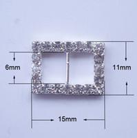 Wholesale M0193 mm inner bar rectangular rhinestone buckle for wedding invitation