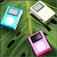 Wholesale Clip mini mp3 player with LED screen mp3 earphone USB cable mini mp3 player