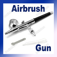 Wholesale 0 mm Spray DUAL ACTION Airbrush Gun Nail Art Paint Kit Gravity PSI
