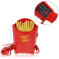 Wholesale Super Fun Lifelike Red French Fries Shape Telephone KXT